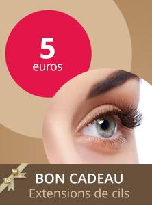 Bon cadeau extention de cils 5€ - Centre Aderm - Annecy