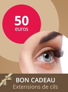 Bon cadeau extention de cils 50€ - Centre Aderm - Annecy